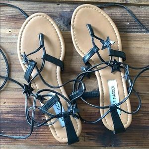 Steve Madden star lace up sandals